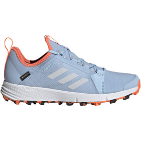 adidas TERREX Agravic Speed GTX Kengät Naiset, glossy blue/footwear white/hi-res coral